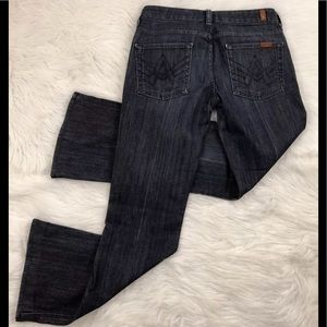 7 For All Mankind 28 A Pocket Distressed Jeans